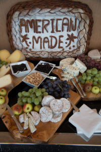 Here's a themed fruit-and-cheese display at the 2015 cocktail reception held in New York City's One World Observatory, at the top of One World Trade Center, on the 102nd Floor Horizon Level.