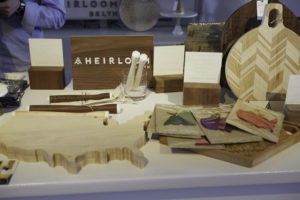 Brooklyn-maker AHeirloom will be back selling custom state-shaped cutting boards, muddlers, cake stands and other unique pieces at the Shop this year. http://aheirloom.com