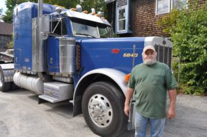 This is Ed, the truck driver, who transported the pieces from Philadelphia. He did a great job - thanks, Ed!