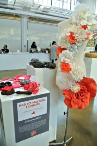 M&S Schmalberg Flowers crafts handmade floral embellishments from its showroom in New York City. http://www.customfabricflowers.com