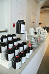 Coffee and tea from my Martha Stewart Cafe were always nearby for our guests to enjoy. http://www.marthastewartcafe.com