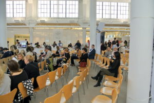Our doors opened before 9am, and the rows filled up very quickly. We expected hundreds of visitors to attend our Summit.