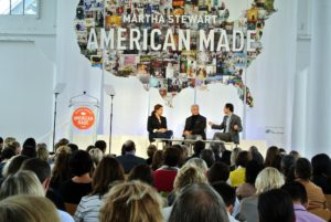 "The ""American Fashion: Timeless Traditions in a Global Marketplace"" was a very engaging discussion moderated by Deborah Needleman, editor-in-chief of T Magazine: The New York Times. Panelists included chief creative director of Tailored Brands Inc., Joseph Abboud, and Zac Posen, designer and founder of House of Z and creative director of Brooks Brothers Womenswear. (Photo by Mike Krautter)"
