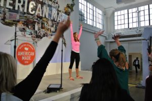 Co-owner of The Gym @Bodyfit, and my trainer, Mary Tedesco, participated in this year's American Made Summit by leading our audience through an afternoon stretch.