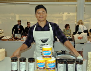 Hansen Shieh is founder of One Culture Foods. H e brought a few dishes showcasing his spicy, Asian sauces. http://www.oneculturefoods.com/