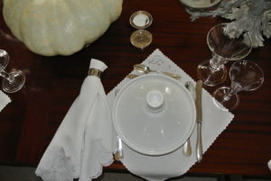 Here is a view of one of the table settings - so simple, yet so elegant.