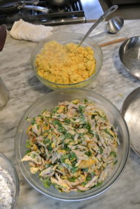 Once the chicken, eggs and almonds were complete, everything was ready to assemble the bisteeya.