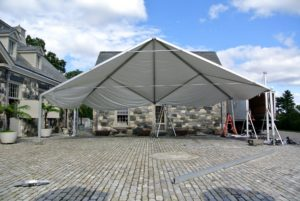 Here is one side of the tent.