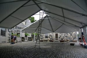 Here is the view from underneath the tent.