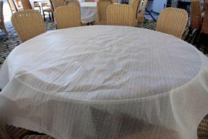 One foam sheet for each table.