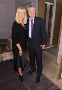 This is Julie Magner, VP of Brand Management for Home Fashions at Hudson's Bay, and Alan Asbridge, SVP/GMM of Home at Hudson's Bay and Home Outfitters. (Photo by George Pimentel/Getty)