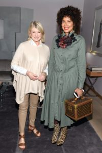 Here I am with Suzanne Boyd, Editor-in-Chief of Zoomer Magazine. (Photo by George Pimentel/Getty)