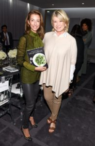 """Here I am joined by Amoryn Engel, society columnist for The National Post and Hello! Canada. She was very excited to receive my book, """"Vegetables"""" and to try its recipes. (Photo by George Pimentel/Getty)"""