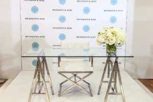 The book signing was also held in the Home department. Hudson's Bay set up such a nice and inviting staging area. (Photo by George Pimentel/Getty)