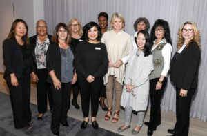 I also posed for some group photos. These are the top sellers of Home from Hudson's Bay and Home Outfitters - Connie Cay-Santos, Sandra Hamil, Novia Bolton, Anita Cheng, Pearling Clarke, Queeney Kwan-Barclay, James Dribas, Barbara Turner, Palmira Mendes, Janice Mallory and Kim Kennedy. (Photo by George Pimentel/Getty)