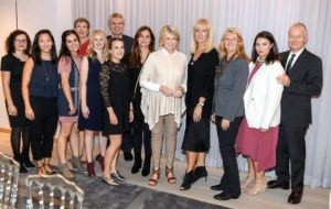 Here, I am posing with members of the Hudson's Bay team including EVP of Stores, Eileen DiLeo, Julie Magner, Richard Montgomery, VP/GM of Hudson's Bay Queen Street Store, Associate Buyer, Marjan Ansari, Buyers Nicole Luk, and Diane Delano, and colleagues from the Macy's Merchandising Group, Stefanie Brandefine and Kimberly Golfman. (Photo by George Pimentel/Getty)
