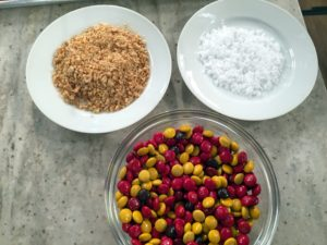 We also have Maldon sea salt and chopped up cashews. Founded in 1882, England's Maldon Salt Crystal Company still draws salt from seawater using traditional long-handled rakes, processing it with no artificial additives for flavor that's pure and clean. http://www.maldonsalt.co.uk