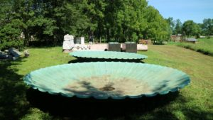 When I went to see these fountains, I knew they would look beautiful at my home in Maine; however, they are extremely large and heavy, and the big challenge was transporting them.