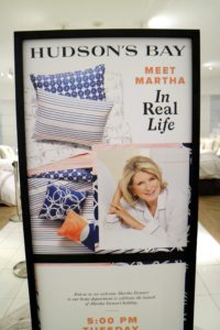After the press interviews, I headed to the Home department to see some of our wonderful product displays. It was nice to see the many signs posted all over the store announcing my book signing event.