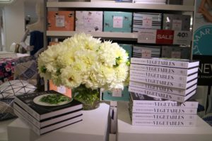 """Copies of my book, """"Martha Stewart's Vegetables"""" were also displayed nicely. If you haven't yet picked up your copy, it's in bookstores now!"""