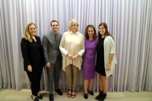 I'm joined here by the Hudson's Bay PR team which includes Michelle Veilleux, Andrew Blecher, Diane Bainbridge and Katie Mills.