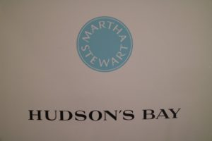 """This is what we call the Martha Stewart """"Sticker"""". It was very exciting to see it along with the Hudson's Bay name. I look forward to the years ahead."""
