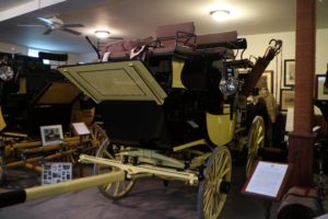This coach was made by the American coach builder, Brewster & Company for Jay Roosevelt in 1881 and was the 13th coach ever built by Brewster.