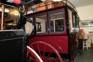 This is a Private Omnibus, part of the Waller Carriage collection. The Omnibus was used for touring, family shopping and for carrying luggage and guests to and from the train station.