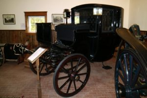 Here is another stunning coach in the Waller collection - a Brewster Brougham dated 1875.
