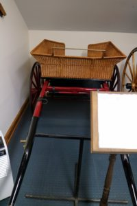 And here is the Governess Cart driven by Mary's mother, Hope. It was made especially to hold children, with high sides to prevent anyone from bouncing out.