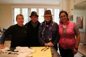 Here I am in the kitchen with Camie, Albert, and Loretta Tenuta. Loretta owns SoMa Catering which prepared the lunch. http://www.somacatering.com