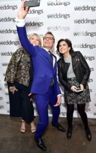 "Here is one of the evening's many ""selfies"". Darcy Miller-Nussbaum and I posed for this one with fashion designer, Randy Fenoli - known for his work on wedding dresses and his television shows, ""Randy's Wedding Rescue"" and ""Say Yes to the Dress"".  (Photo by Sean Zanni for Patrick McMullan)"