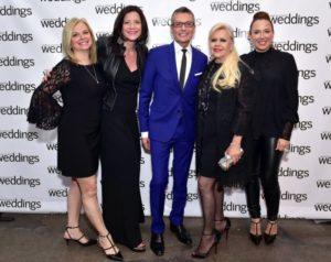 Patti, associate publisher of Weddings, Jennifer Marder, Randy, designer Ines Di Santo, and her daughter, Veronica Di Santo (Photo by Sen Zanni for Patrick McMullan)