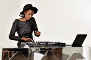 Here is our DJ for the event. (Photo by Sean Zanni for Patrick McMullan)