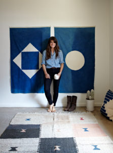 Maura Grace Ambrose created a quilt making company called Folk Fibers. Maura uses all-natural dyes to color her favorite 100-percent natural fabrics for a look that's one-of-a-kind and timeless. http://www.folkfibers.com