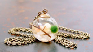 Here is a delicate and beautiful necklace from Moss + Twig.