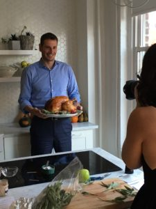 Here is Martha & Marley Spoon USA CEO, Roberto Mastrigli, holding our delicious roasted Turkey 101 with gravy.