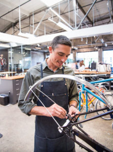 Shinola works hard to bring manufacturing jobs back to Detroit, with products that are beautiful and made to last. Each bicycle by Shinola undergoes a precise, custom-level assembly. http://www.shinola.com/our-story/about-shinola