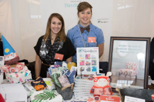 Here are Jenny Schnaak and Sara Englehart of Spoonflower, which focuses on empowering individuals to create on-demand, custom-designed textiles. Thank you, Spoonflower, for printing the banners on fabric all around the event area, including the Amerian Made sign above the main stage! Spoonflower was a winner in our 2013 American Made Awards.  http://www.spoonflower.com/   (Photo by Mike Krautter)