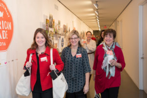 These shoppers are ready with their bags! (Photo by Mike Krautter)