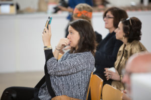 Across the clerestory, attendees took photos and shared them on their own social media platforms. (Photo by Mike Krautter)