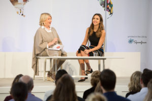 I also interviewed actress, and founder and chief creative officer of The Honest Company, Jessica Alba. (Photo by Mike Krautter) https://www.honest.com/