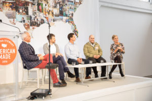 Our next panel was moderated by restaurateur, television personality and my friend, Chef Geoffrey Zakarian. It was a food panel discussion with founder and CEO of Marley Spoon, Fabian Siegel, co-founder and CEO of Sweetgreen, Nicolas Jammet, farm director at Stone Barns Center for Food and Agriculture, Jack Algiere, and actress and chief brand officer and co-founder of Foodstirs, Sarah Michelle Gellar.