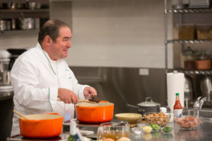 "Emeril also talked about his book, ""Essential Emeril: Favorite Recipes and Hard-Won Wisdom from My Life in the Kitchen."" (Photo by Mike Krautter) https://www.amazon.com/Essential-Emeril-Favorite-Recipes-Hard-Won/dp/0848744780"