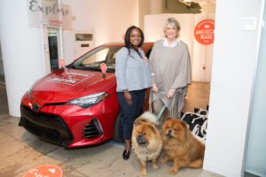 Here I am with Toyota's National Sponsorship Manager, Danielle Benjamin. (Photo by Mike Krautter)