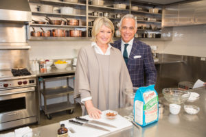 Here I am with Chef Geoffrey Zakarian on another Facebook Live segment. We made delicious Maple shortbread cookies with flour from Bob's Red Mill. (Photo by Mike Krautter) http://www.bobsredmill.com/