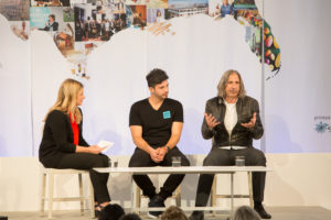 """Editor-in-chief of Living, Elizabeth Graves, moderated the """"Seeding the Future"""" discussion with co-founder and marketing director o S2G Ventures and Alejandro Velez, co-founder of Back to the Roots, a 2013 American Made Honoree."""
