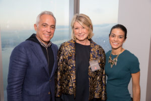 Here I am with Chef Geoffrey Zakarian and his wife, Margaret. (Photo by Mike Krautter)