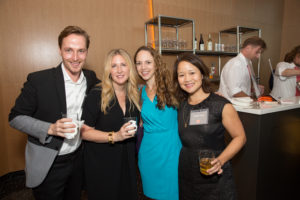 Food editor, Greg Lofts, Melissa, Weddings editor, Brooke Porter Katz, and Jennie Tung (Photo by Mike Krautter)