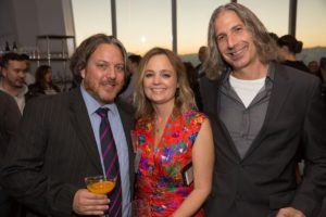 Joe, Heather and Victor Friedberg, co-founder and managing director of S2G Ventures (Photo by Mike Krautter)